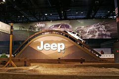 Jeep uphill demo Royalty Free Stock Images