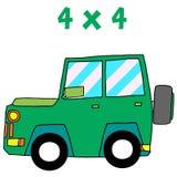 Jeep of vector art illustration Stock Image