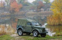 Jeep viejo del Ejército de los EE. UU. Fotografía de archivo libre de regalías
