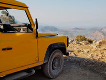 Jeep and view of Landscape in Turkey Stock Images