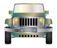 Jeep vooraan vector illustratie