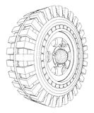 Jeep Wheel Tire Vector 08 Stock Photo