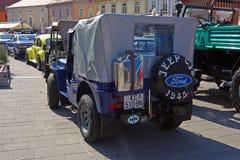 Jeep Willys cj-2 klassieke auto Royalty-vrije Stock Foto's