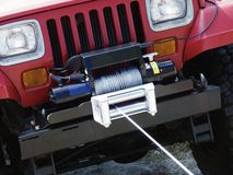 Jeep and winch Stock Images