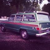 Jeep Wood Panel Wagoneer Arkivbilder