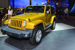 Jeep Wrangler al salone dell'automobile di Ginevra immagine stock