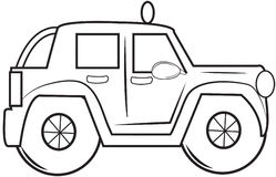Jeep Wrangler coloring page Royalty Free Stock Photos