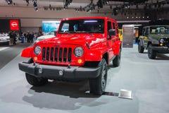 Jeep Wrangler 2015  on display Stock Photography