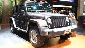 Jeep Wrangler four-wheel drive off-road sport utility vehicle stock video