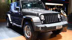 Jeep Wrangler four-wheel drive off-road sport utility vehicle stock footage