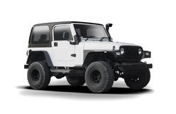 Jeep Wrangler isolou-se Fotos de Stock Royalty Free