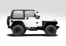Jeep Wrangler lokalisierte Stockfoto