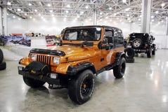 Jeep Wrangler mim carro na expo 2012 do açafrão Imagem de Stock Royalty Free