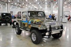 Jeep Wrangler mim carro na expo 2012 do açafrão Fotos de Stock