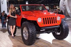 Jeep Wrangler model 2010 Stock Images