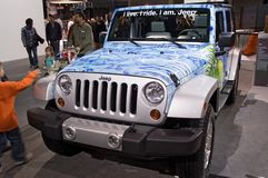 Jeep Wrangler model 2010 Royalty Free Stock Images