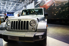 Jeep Wrangler , Motor Show Geneve 2015. Stock Photos