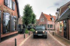 Jeep Wrangler Nederländerna, Europa Fotografering för Bildbyråer