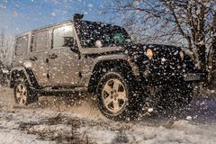 Jeep Wrangler off-road Stock Photography