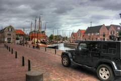 Jeep Wrangler, Paesi Bassi, Europa Fotografia Stock