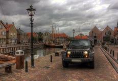 Jeep Wrangler, Pays-Bas, l'Europe Images libres de droits