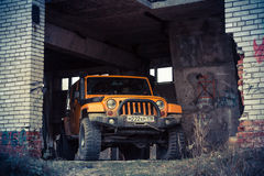 Jeep Wrangler Rubicon Stockbild