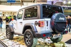 Jeep Wrangler Rubicon de cuarta generaci?n, JL, veh?culo campo a trav?s del tracci?n cuatro ruedas manufacturado por el jeep imagenes de archivo