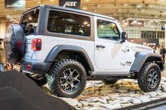 Jeep Wrangler Rubicon de cuarta generaci?n, JL, veh?culo campo a trav?s del tracci?n cuatro ruedas manufacturado por el jeep imagen de archivo libre de regalías