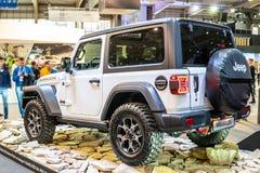 Jeep Wrangler Rubicon de cuarta generaci?n, JL, veh?culo campo a trav?s del tracci?n cuatro ruedas manufacturado por el jeep foto de archivo libre de regalías