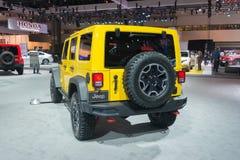 Jeep Wrangler Rubicon 2015  on display Stock Photo