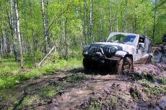 Jeep wrangler in Rusland Royalty-vrije Stock Afbeeldingen