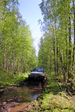 Jeep wrangler in Russia Royalty Free Stock Image