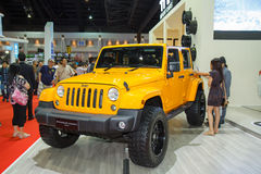 Jeep Wrangler Sahara car Stock Image