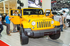 Jeep Wrangler Sahara car Stock Photography