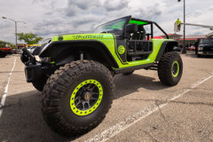 2017 Jeep Wrangler Trailcat, cruzeiro do sonho de Woodward, MI Imagens de Stock Royalty Free
