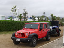 Jeep Wrangler Unlimited Royaltyfria Foton