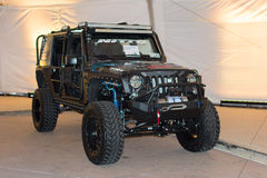 Jeep Wrangler Unlimited 2015 on display Stock Images