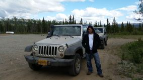 Jeeping by Denali Park Stock Photography