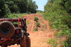 Jeeping in Oklahoma's red dirt Royalty Free Stock Images