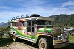jeepney传统菲律宾的sagada 免版税库存图片