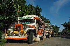 jeepney停放的菲律宾 免版税库存图片