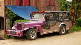 Jeepney汽车 免版税库存照片