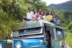 jeepney溢出 免版税库存照片