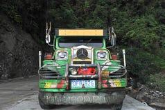Jeepney运输菲律宾 免版税库存照片