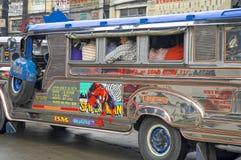 Jeepney,马尼拉,菲律宾 库存照片