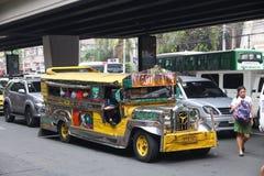 Jeepney στη Μανίλα Στοκ Εικόνες
