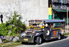 Jeepney 1. A Jeepney which is used as the local transport in the Philippines Stock Photos