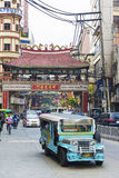 Jeepney bus in manila chinatown in philippines Stock Images