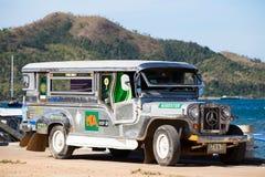 Jeepney in Coron, Filippijnen stock afbeelding