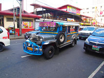 Jeepney in Manilla stock fotografie